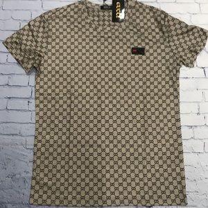 men's gucci Tshirt tan color size M L
